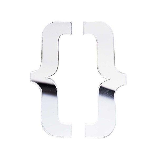 Rico Design Spiegel Zeichen { } 40x15mm 2 Stück