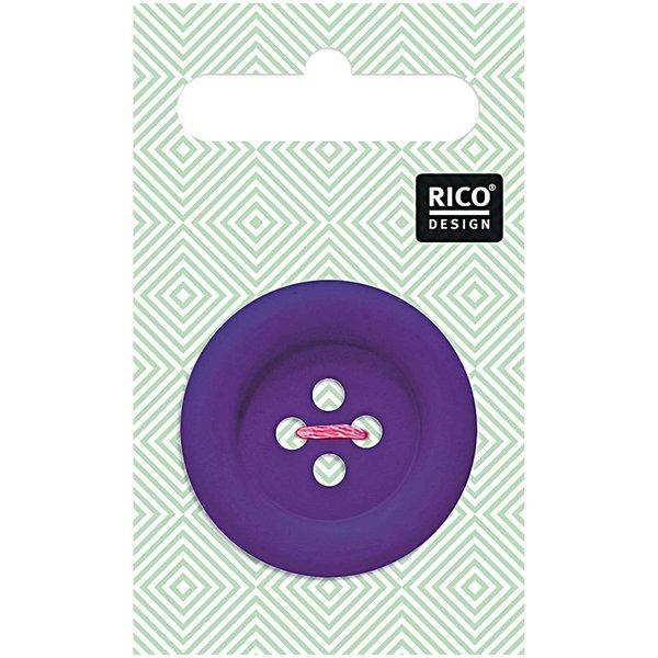 Rico Design Knopf violett matt 3,4cm