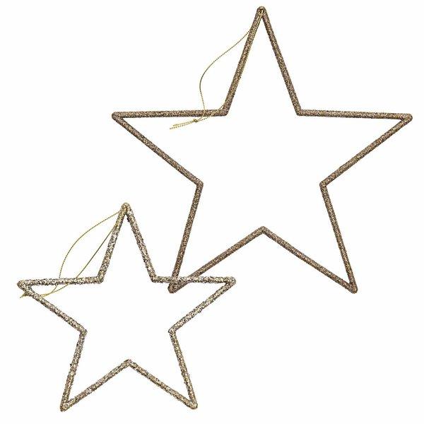 Ohhh! Lovely! Hänger Stern mit Glitter gold