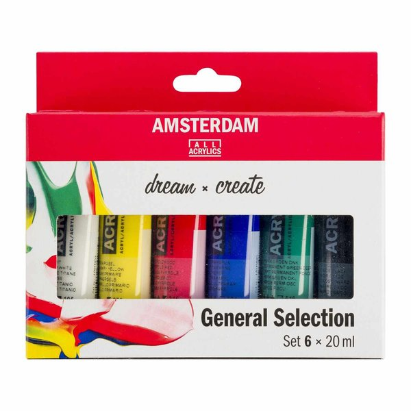 AMSTERDAM Acrylfarbe Set 6x20ml