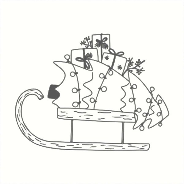 May&Berry Stempel Schlitten weiß 45x45mm