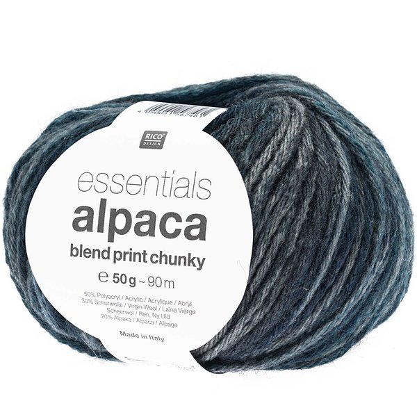 Rico Design Essentials Alpaca Blend Print Chunky 50g 90m