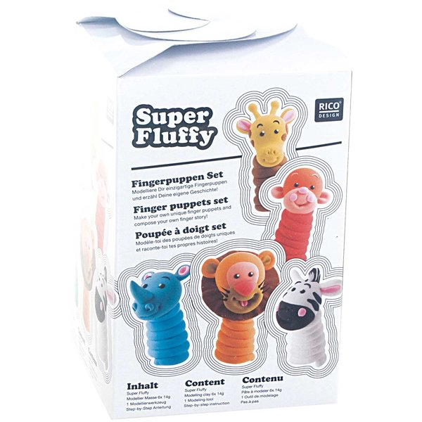 Rico Design Super Fluffy Set Fingerpuppen
