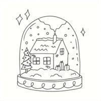May&Berry Stempel Schneekugel weiß 45x45mm