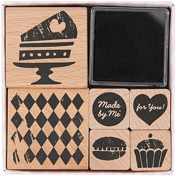 Rico Design Stempelset Kuchen 6 Stück