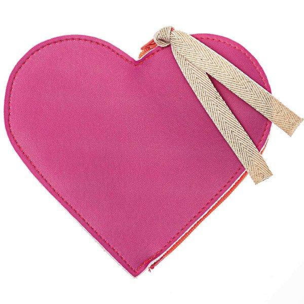 Paper Poetry Geldbeutel Herz neon-pink 0,5x13x14cm