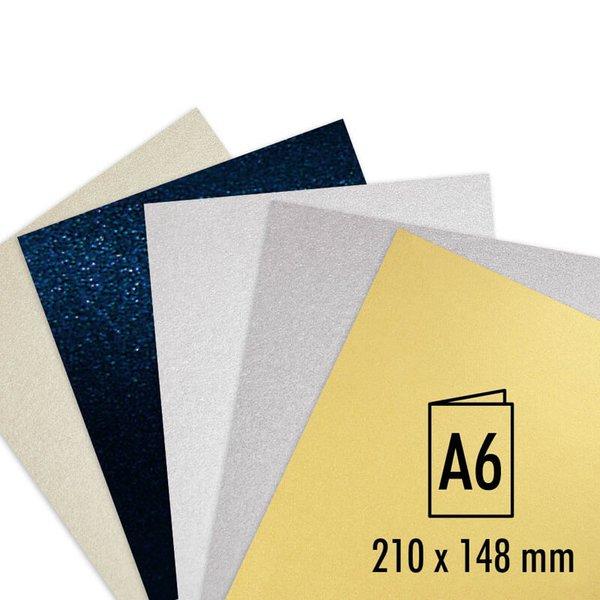 Artoz Doppelkarte Perle A6 250g/m² 5 Stück