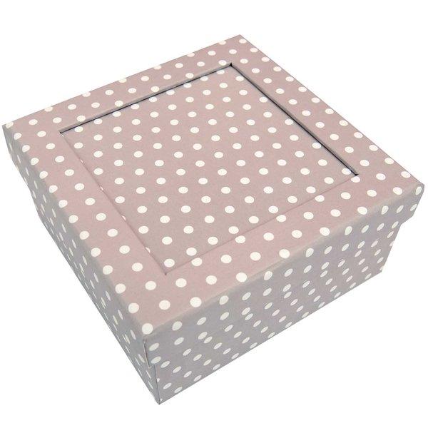 Rico Design Pappbox kitt-weiß 13,8x13,8x6,8cm