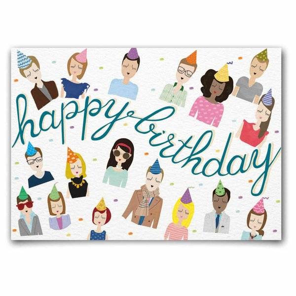 Nelly Castro Postkarte Happy Birthday People 10,5x14,8cm