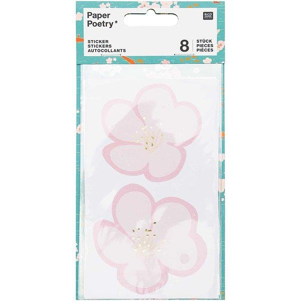 Paper Poetry Sticker Jardin Japonais Kirschblüten 8 Stück