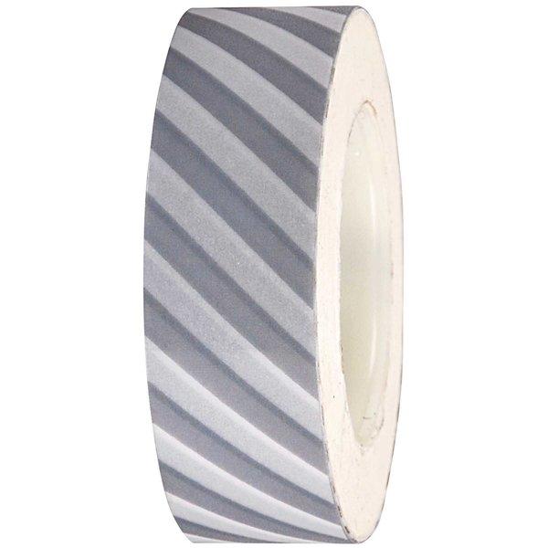 Rico Design Tape weiß-silber gestreift 15mm 10m