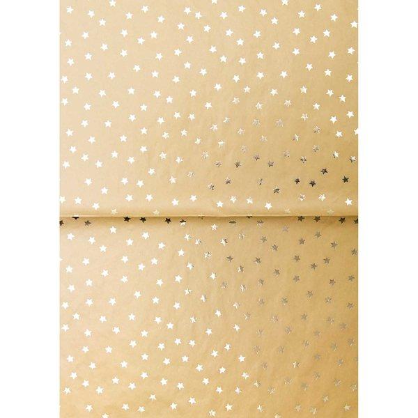 Rico Design Paper Patch Papier Nostalgic Christmas Sterne senfgelb 30x42cm