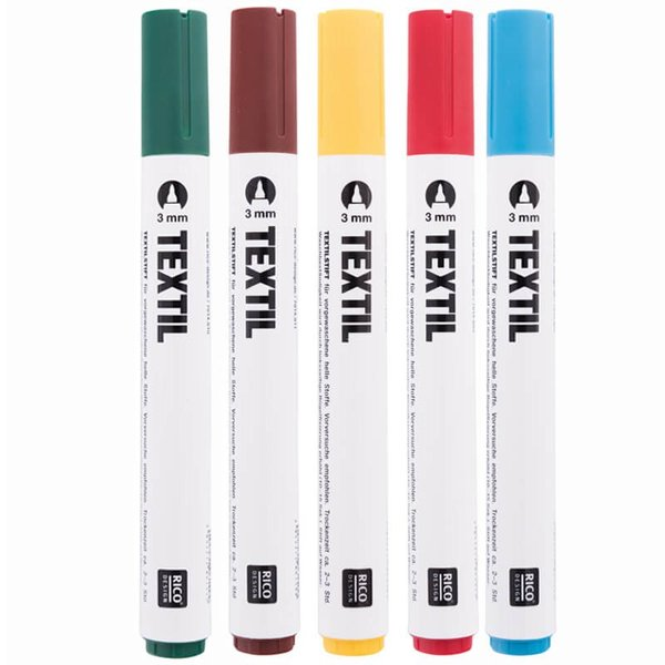 Rico Design Textilmarker 3mm helle Stoffe