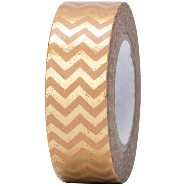 Paper Poetry Tape Zickzack gold 15mm 10m Hot Foil