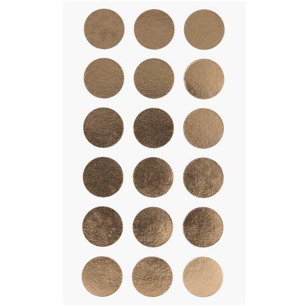 Paper Poetry Sticker Punkte gold 15mm 4 Bogen