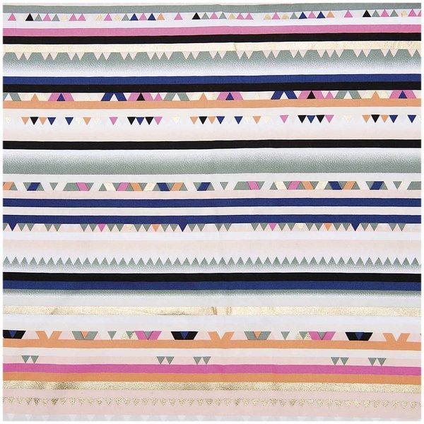 Rico Design Druckstoff Streifen mehrfarbig-neon 50x140cm