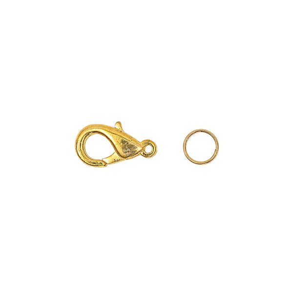 Jewellery Made by Me Karabiner mit 2 Federringe gold 16mm