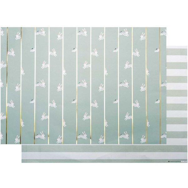 Paper Poetry Motivkarton Bunny Hop mint 50x70cm
