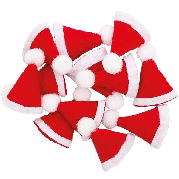 Ohhh! Lovely! Mini-Weihnachtsmützen rot 2x3,5cm 12 Stück