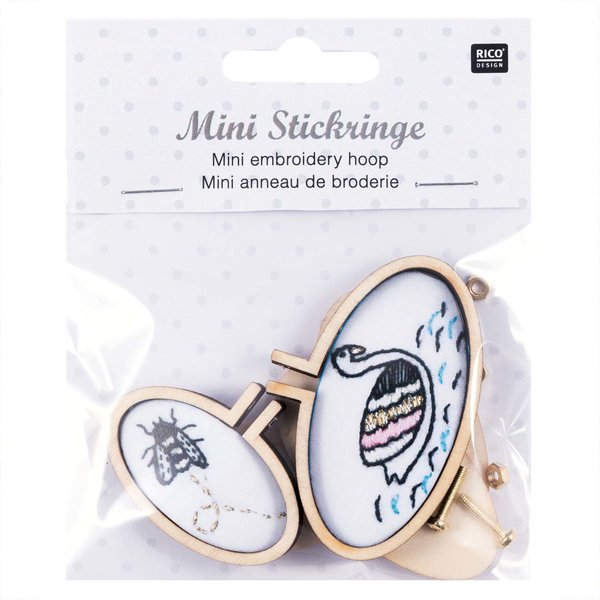 Rico Design Stickringe mini oval 2 Stück
