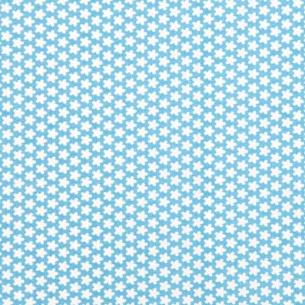 Rico Design Stoff Blümchen hellblau-weiß 160cm