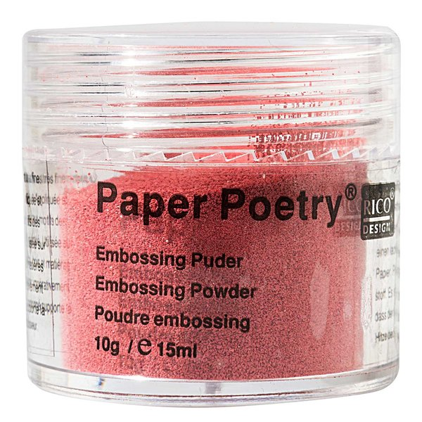 Paper Poetry Embossingpuder rot 10g