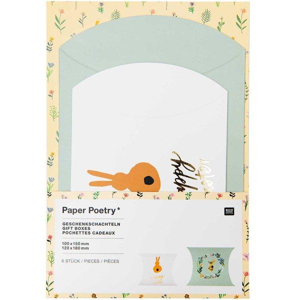 Paper Poetry Geschenkschachteln Bunny Hop Happy Easter 6 Stück