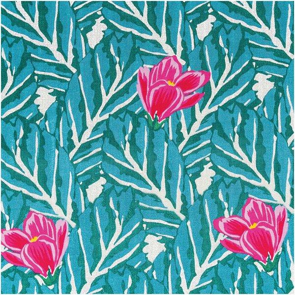 Rico Design Musselin-Druckstoff Aloha Magnolie Hot Foil 140cm