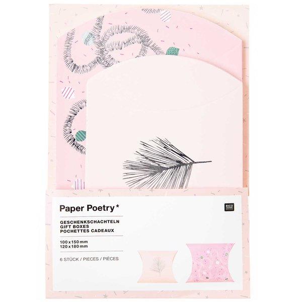 Paper Poetry Geschenkschachteln Nostalgic Christmas rosa 6 Stück