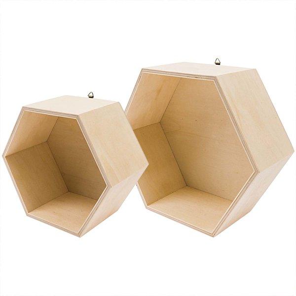 Rico Design Holzbox sechseckig