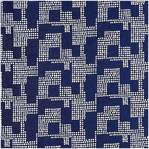 Rico Design Druckstoff grafisches Muster dunkelblau 140cm