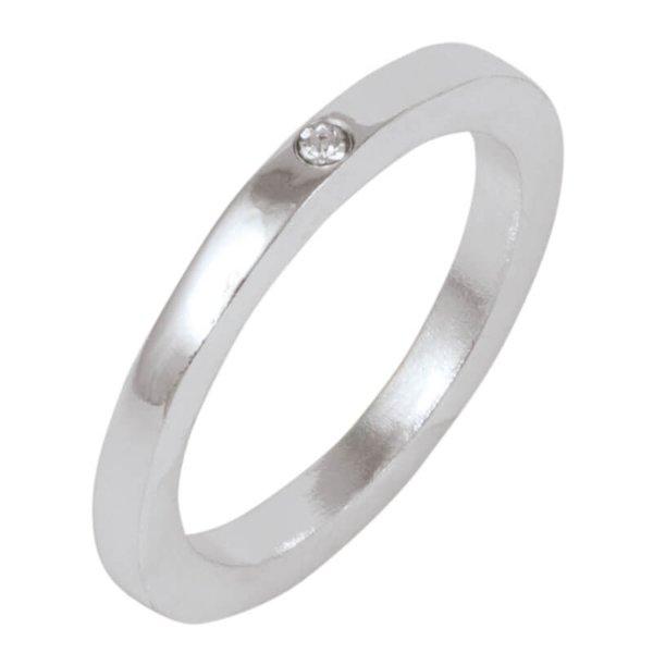 Rico Design Ring mit Strass-Stein 16mm
