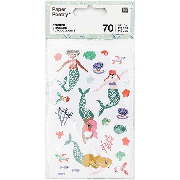 Paper Poetry Sticker Mermaid Meerjungfrauen 70 Stück
