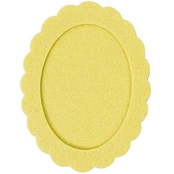 Rico Design Filzrahmen oval gelb 10,5x14cm