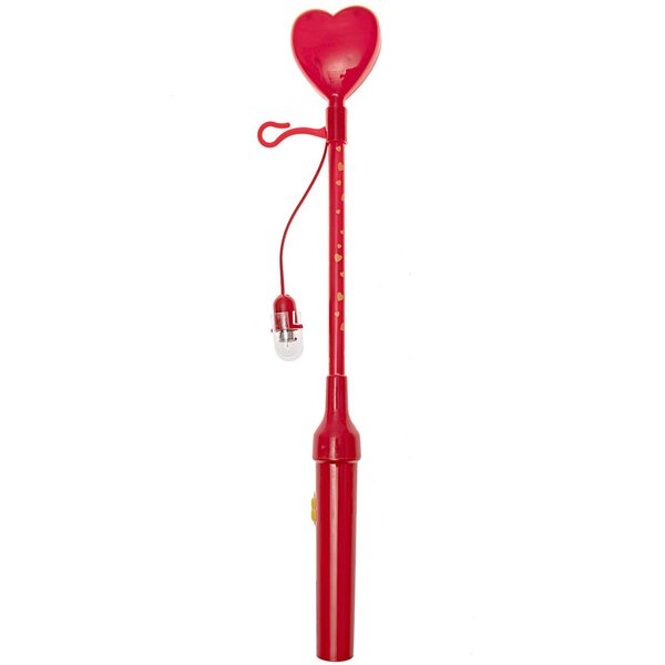 Laternenstab Herz blinkend rot 34cm