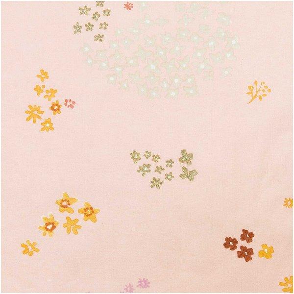Rico Design Druckstoff Crafted Nature Blumen rosa-metallic 140cm beschichtet
