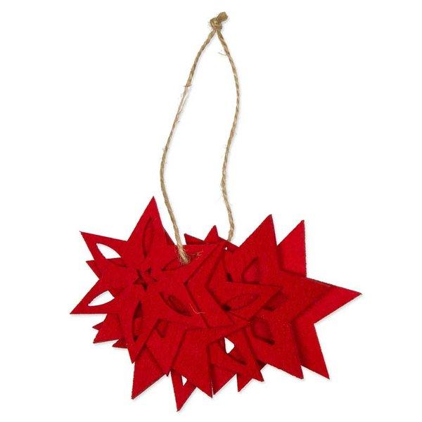 Filzdeko Sterne rot 6 Stück