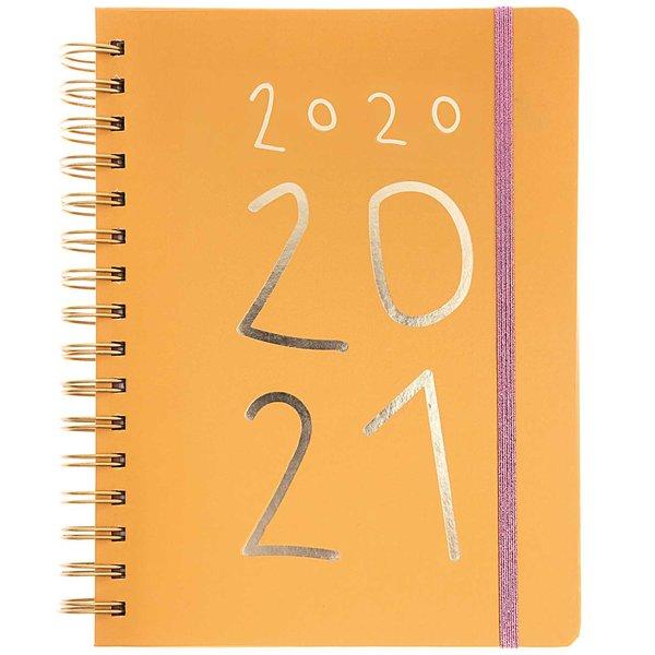 Paper Poetry Agenda 2020-2021 senfgelb 2,5x16,5x22cm