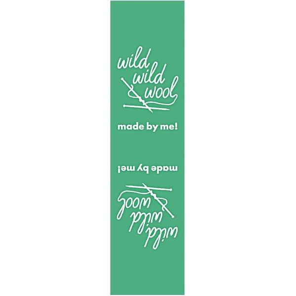 Rico Design Webetiketten außen wild wild wool grün 2x8cm 3 Stück