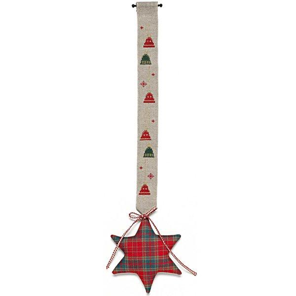 Rico Design Stickpackung Behang Glocke mit Stern 17x62cm