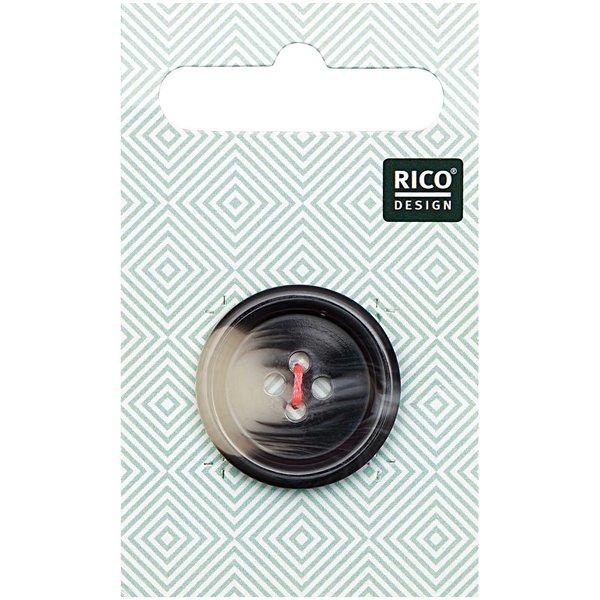 Rico Design Knopf grau 2,5cm strukturiert
