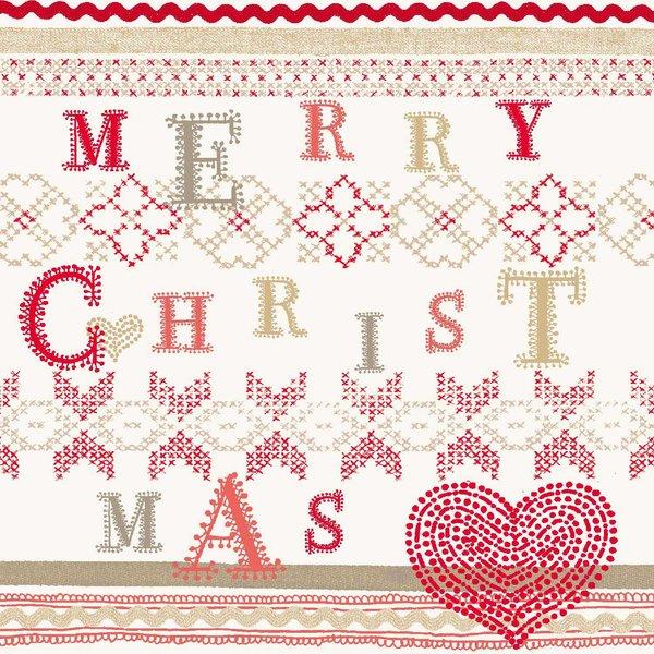 Ambiente Serviette Christmas Stitch 33x33cm 20 Stück