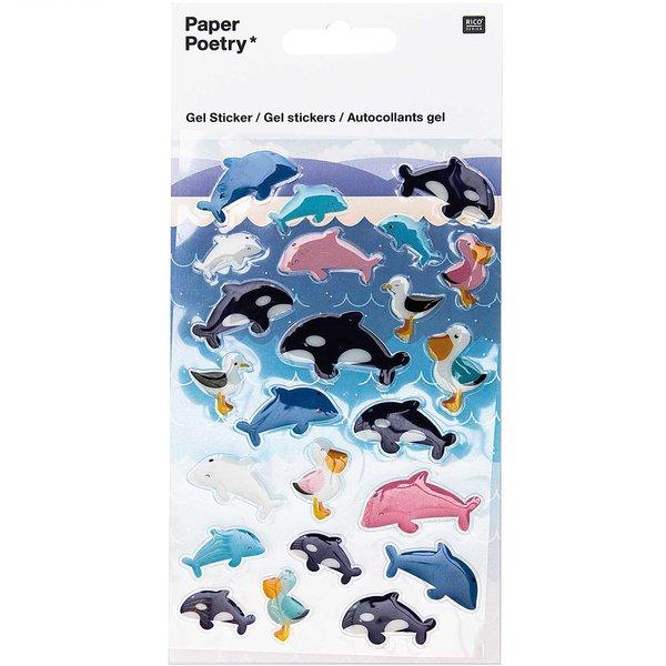 Paper Poetry Gelsticker Delfine