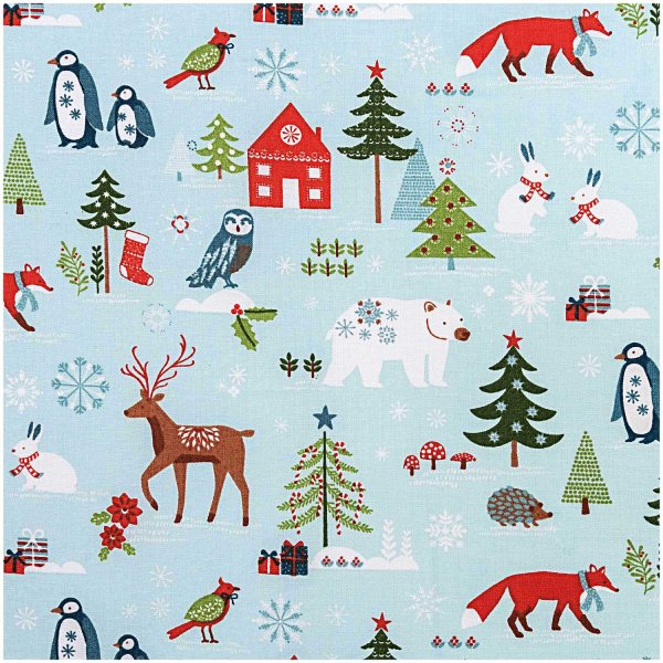 Rico Design Stoff Winterimpressionen mint 50x70cm
