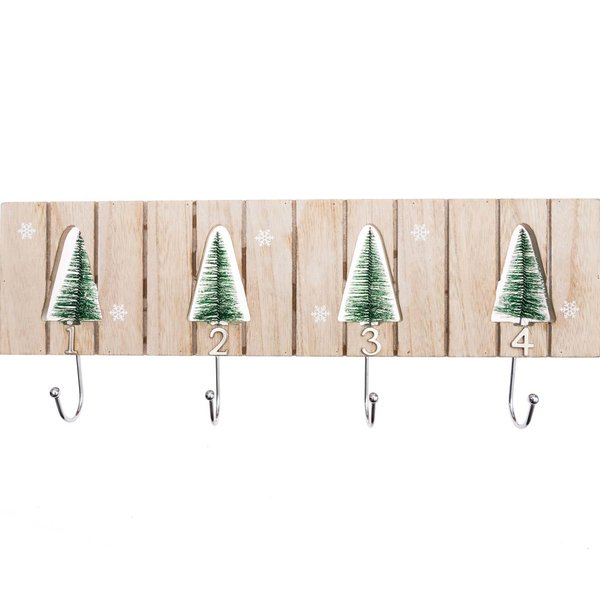 Wandhänger 1-4 Snowflakes 46x18cm