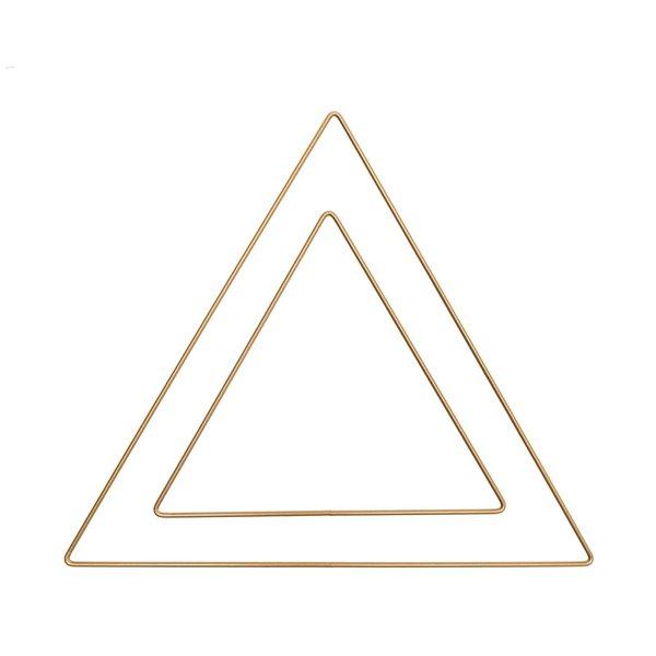 Rico Design Metallring Dreieck gold