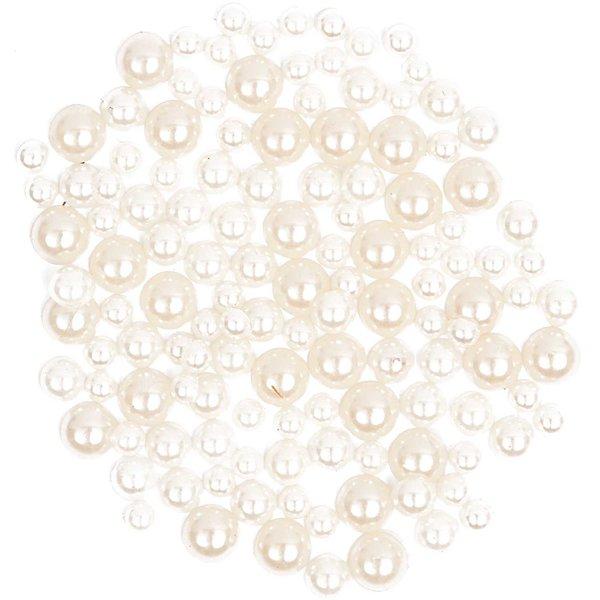 Rico Design Strass-Steine Perlen weiß ca. 130 Stück