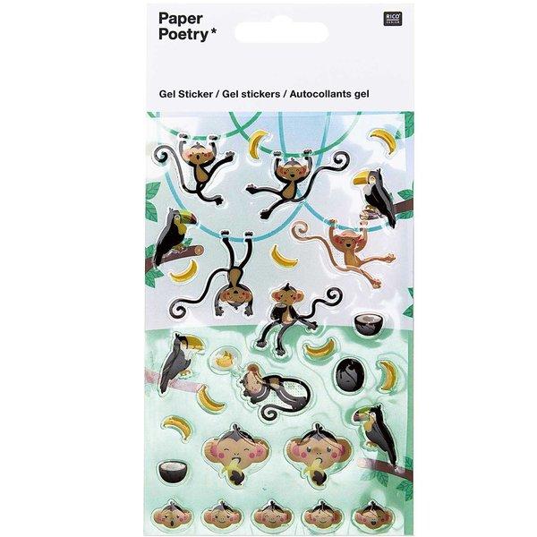 Paper Poetry Gelsticker Affen