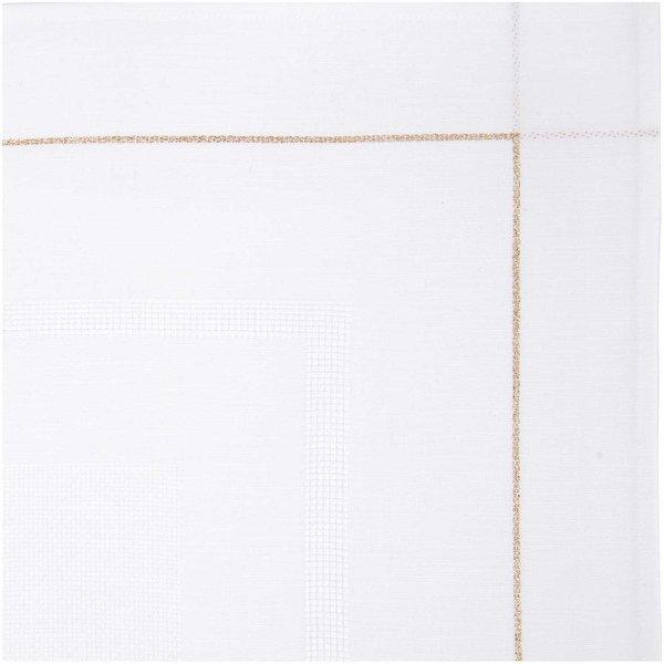 Rico Design Tischdecke weiß mit Lurexrand 90x90cm