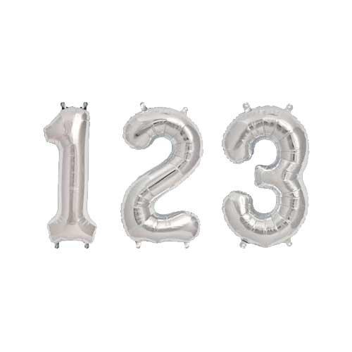 Rico Design Folienballon Zahl silber 36cm
